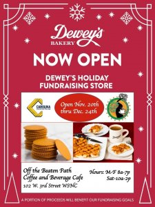 CCC Opens Dewey's Holiday Store