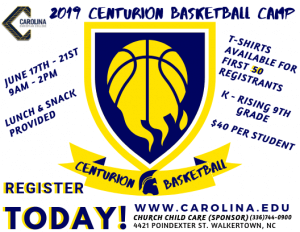 2019 Centurion Basketball Camp
